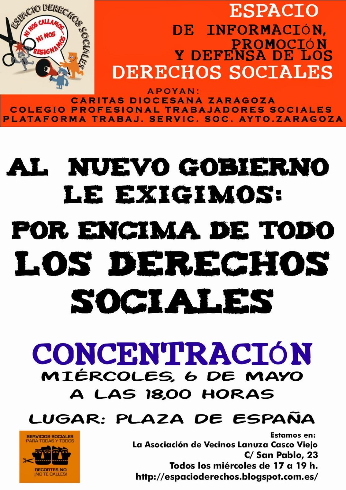Concentración Espacio Derechos Sociales, Plataforma de Profesionales de Servicios Sociales