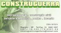 CONSTRUGUERRA Terraplanagem - Construção Civil - Estrutura Metálicas - Pontes - Locação