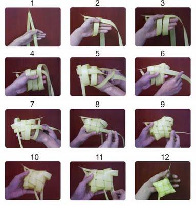 Cara Membuat Ketupat Lebaran (Gambar dan Video) Lengkap