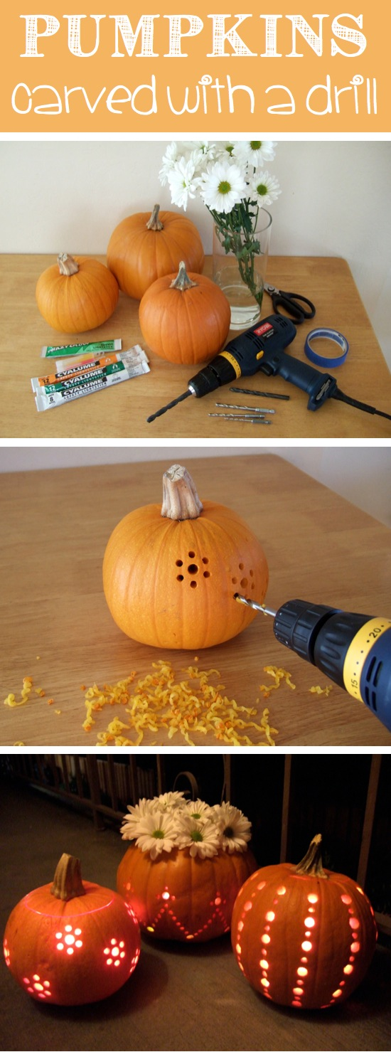 All things katie marie 60 no carve pumpkin decorating ideas for Different pumpkin designs