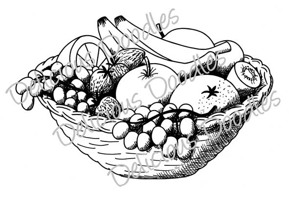 Fruit basket sketch
