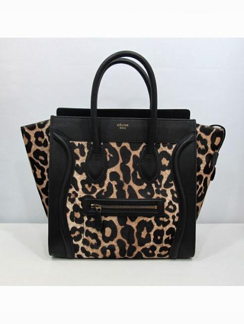 Celine leopard print bag
