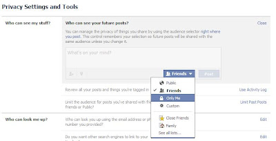 Facebook Status Privacy for Future Post