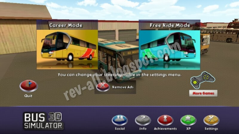 menu utama permainan Bus Simulator 3D (rev-all.blogspot.com)
