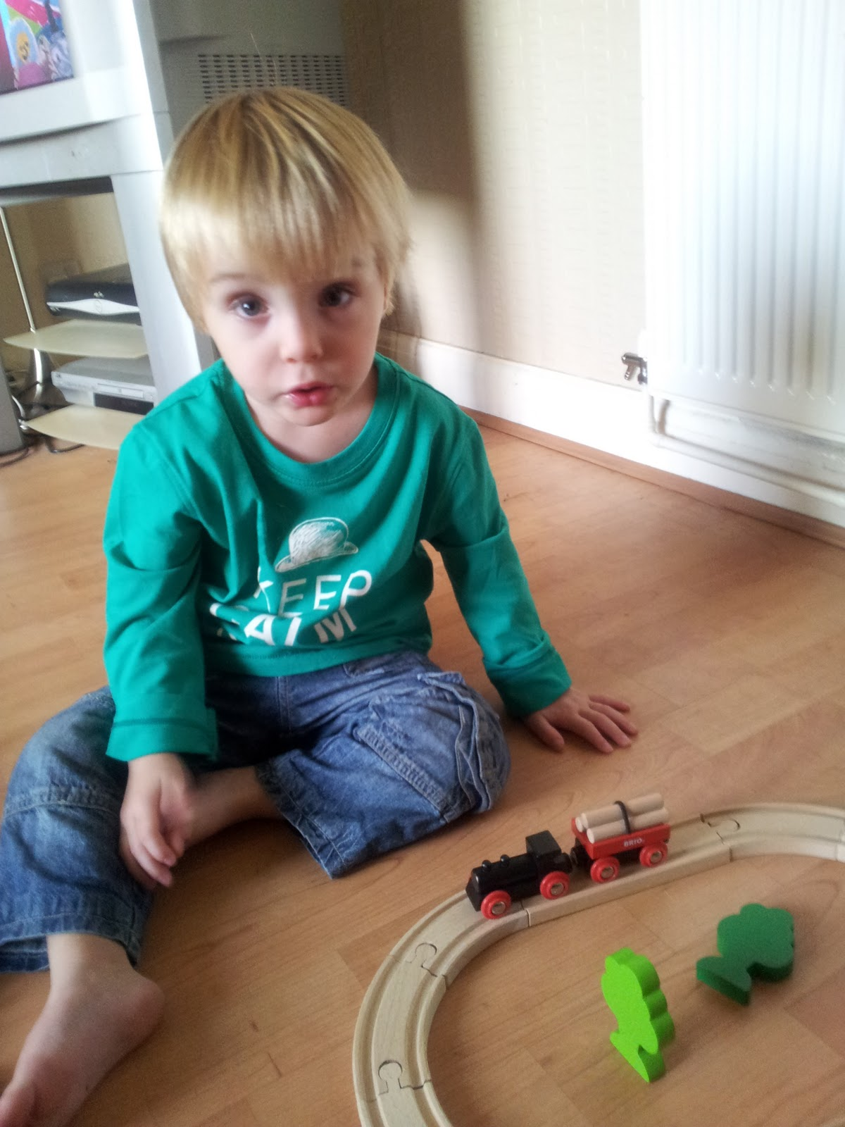 Joseph really loves his new trainset and we would thoroughly recommend ...
