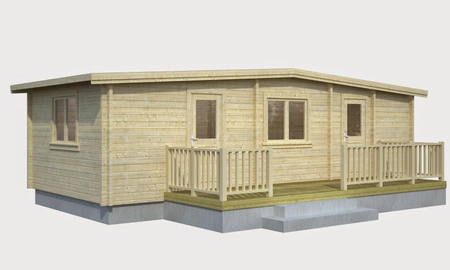 Casas de madera baratas bungalow molly1 de madera n rdica - Casas de madera nordicas ...