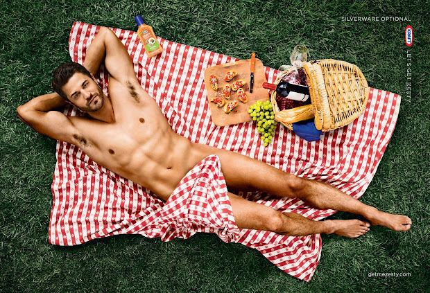 zesty picnic man, silverware optional, Kraft let's get zesty, memorial day picnic ideas, salad dressing,