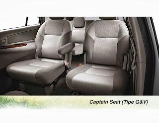 captain seat innova