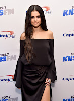 Selena Gomez hot braless silk dress KIIS FM's Jingle Ball 2015 red carpet photos