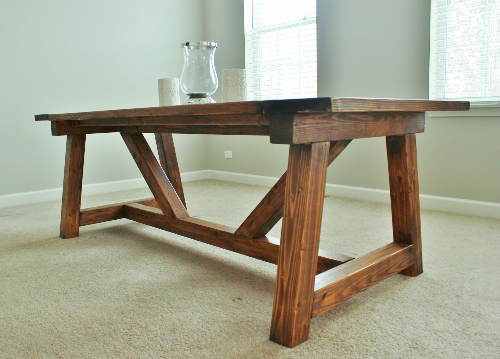 Holy Cannoli! We Built a Farmhouse Dining Room Table. | Delightfully ...