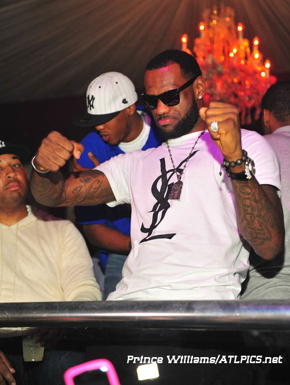 Poshthesocialite Lebron James Lookin Fly In A Ysl Logo T