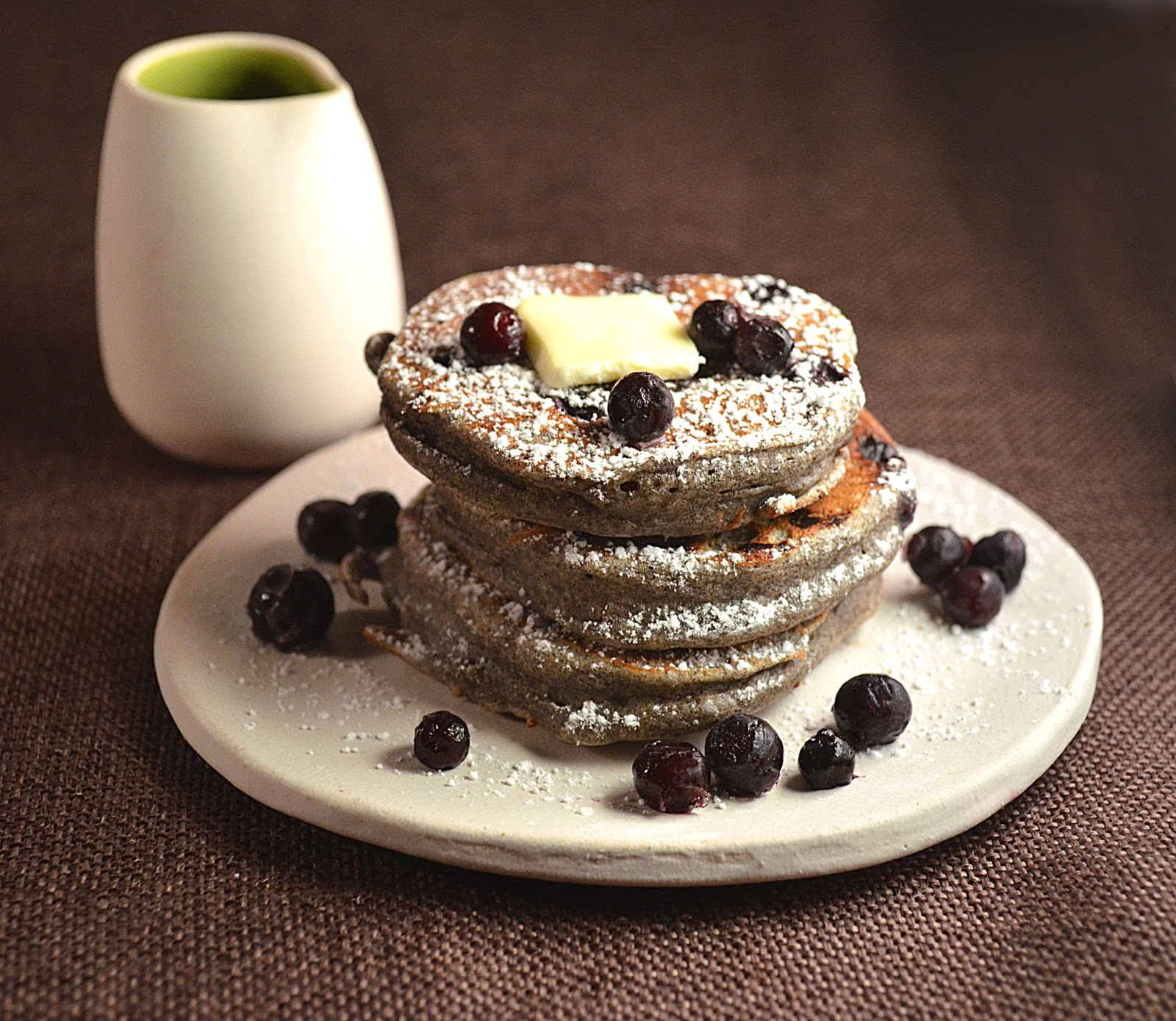 Jilly...Inspired : Blueberry Buckwheat Pancakes