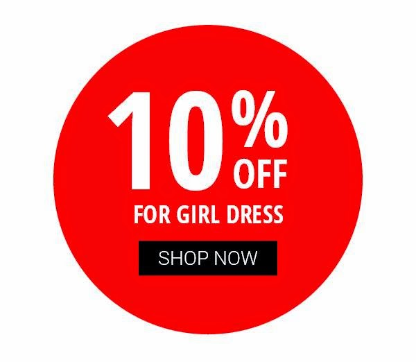 OFFER! 10% discount on GIRL DRESS