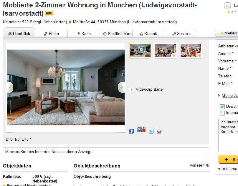 m blierte 2 zimmer wohnung in m nchen ludwigsvorstadt isarvorstadt maistra e 44 80337 m nchen. Black Bedroom Furniture Sets. Home Design Ideas