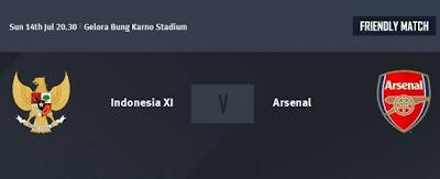 Jadwal Pertandingan Timnas Indonesia vs Arsenal di RCTI