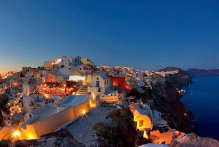 greek islands by night