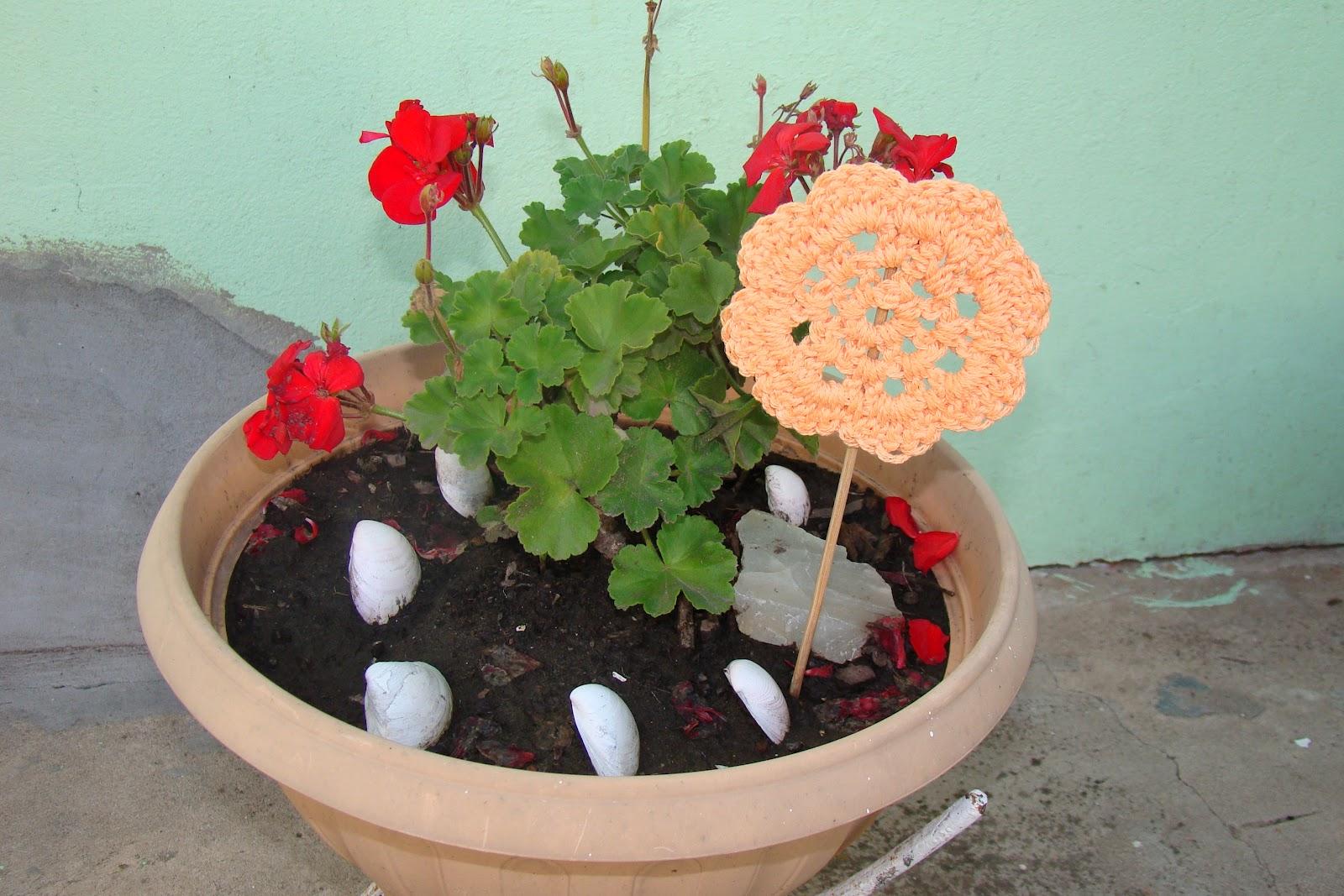 Artesanias En Crochet Marian Tutores Para Mis Plantas