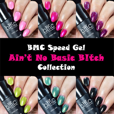 BMC Speed Gel Ain't No Basic B!tch Collection Swatches and Review