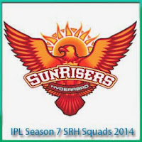 IPL Season 7 Sunrise Hyderabad Squads Profile and Squads Logo Sunrise Hyderabad IPL 7 Scorecards