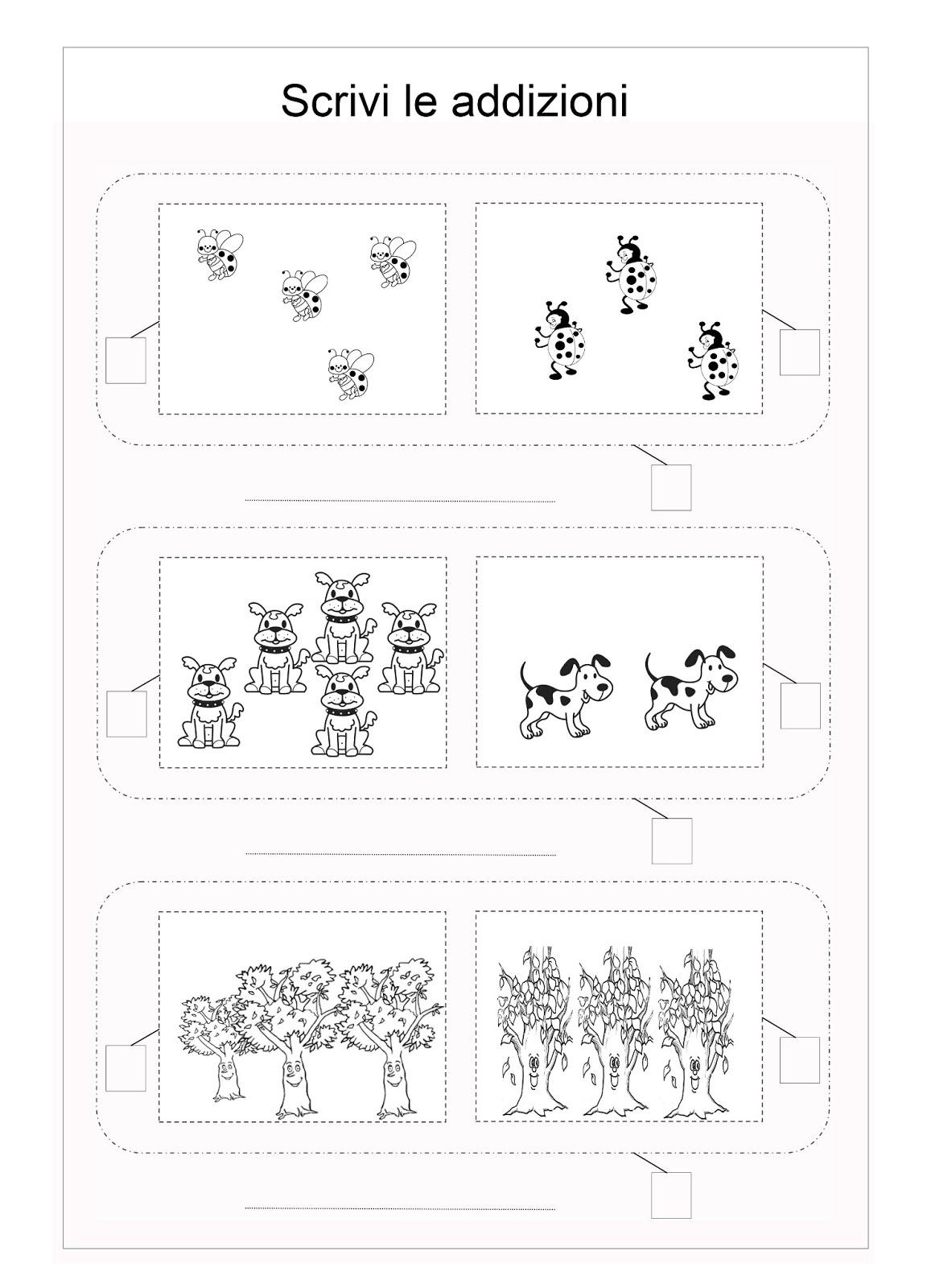 Super Scuola di pensiero: Schede didattiche: addizioni per la prima  HU64