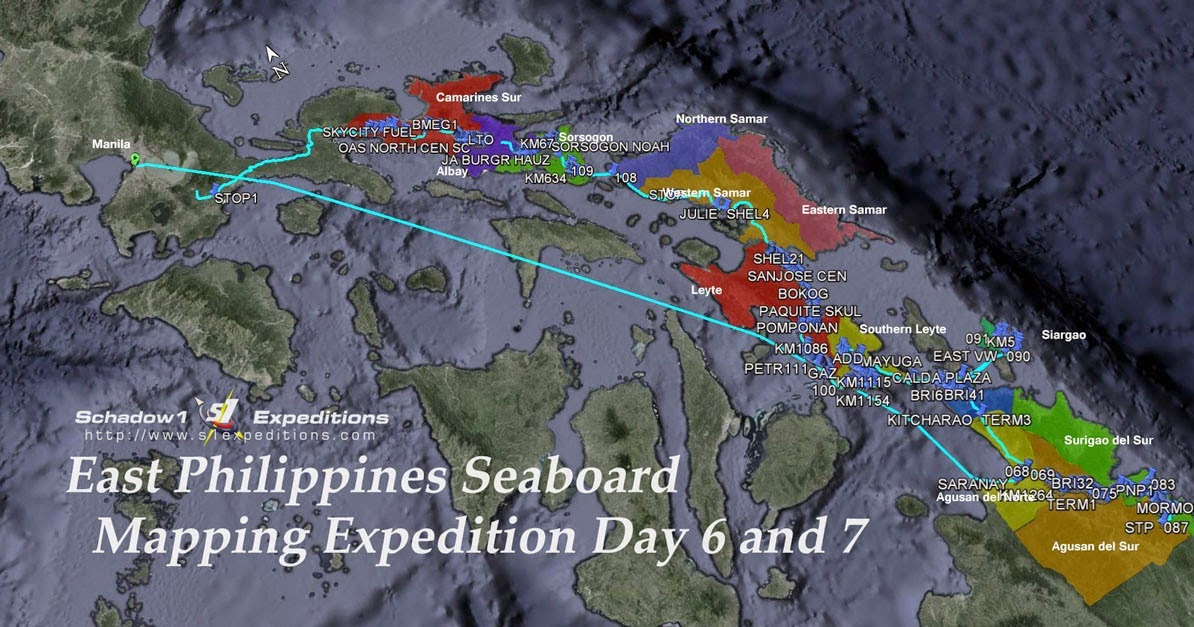 Part 4 of East Philippines Seaboard Mapping