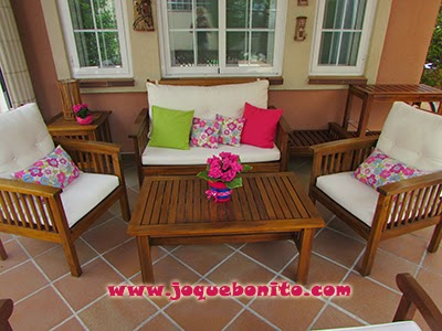 Cojines coloridos para el jardín