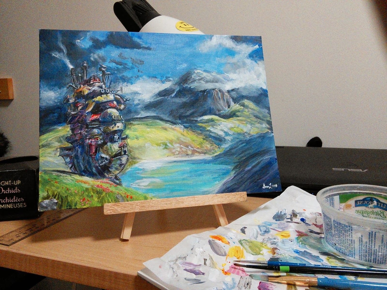 Howls Moving Castle Painting