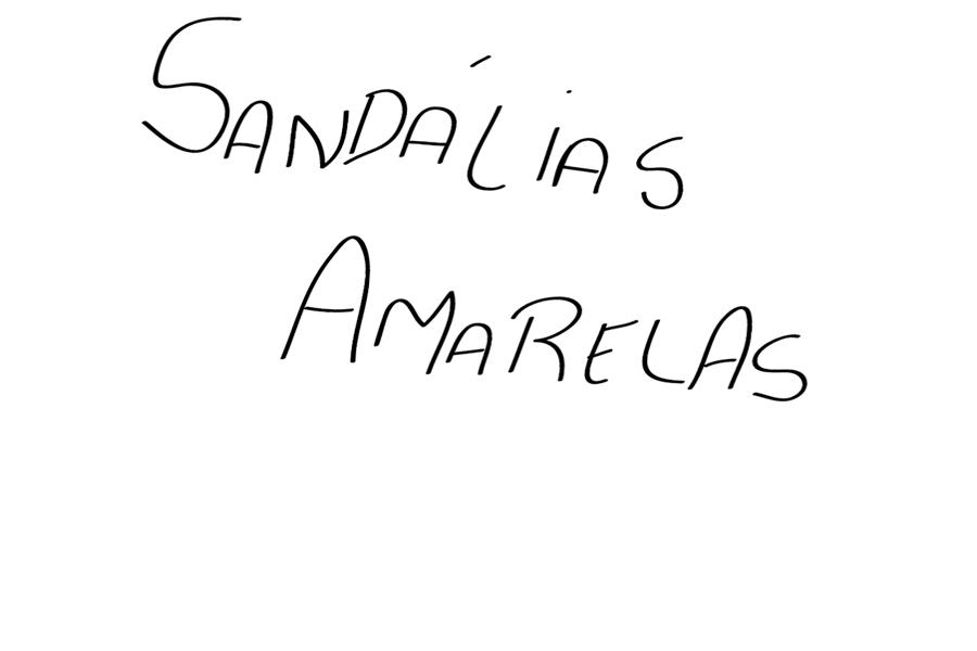 Sandálias Amarelas