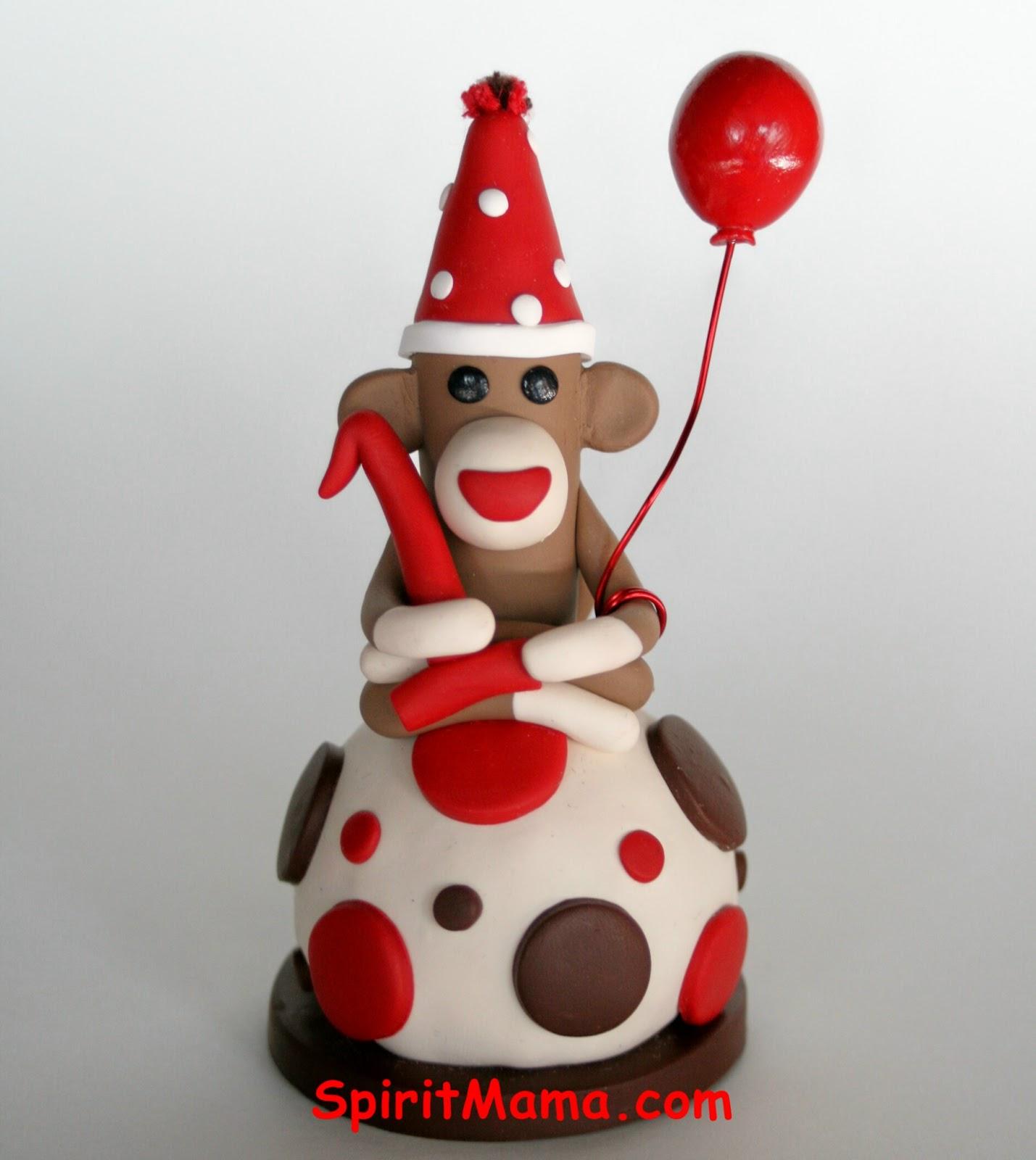SpiritMama Art and Soul: Sock Monkey SMASH CAKE Toppers