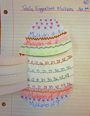 photo of multiples math journal entry @ Runde's Room