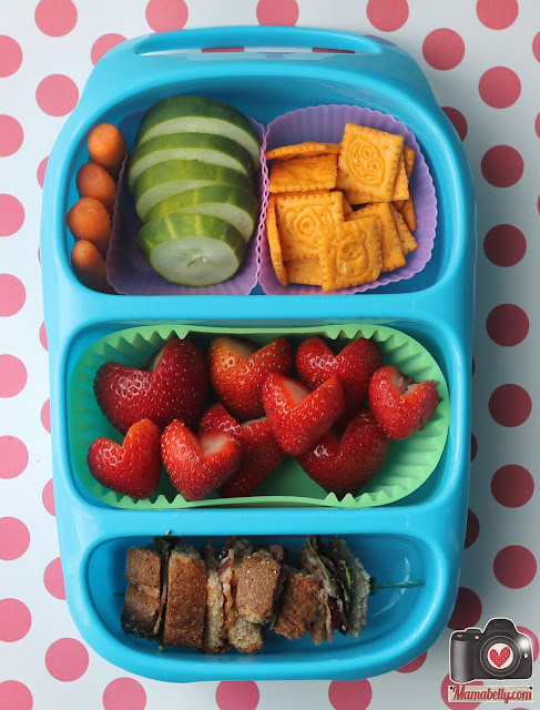 BLT school lunch sandwich in our Goodbyn Bynto lunchbox - www.mamabelly.com