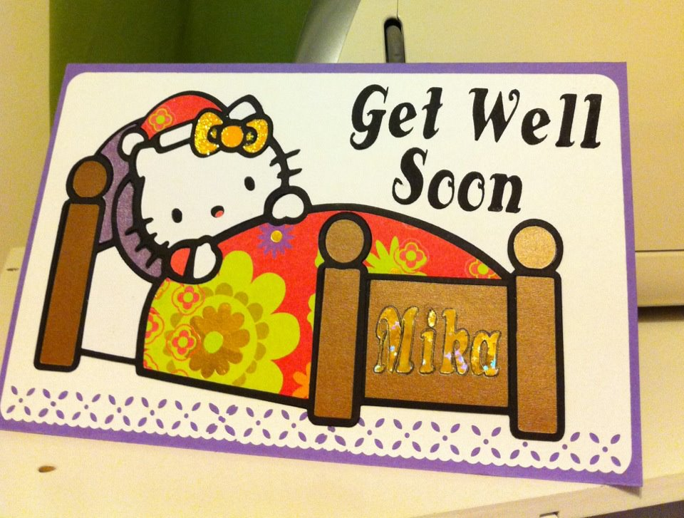 danitas designs hello kitty get well card
