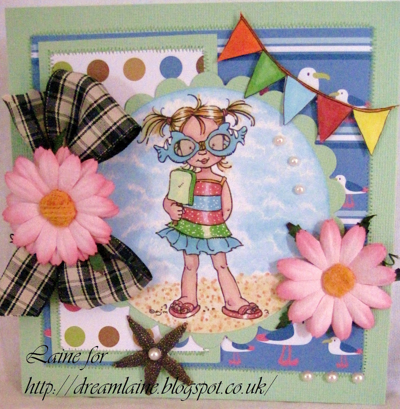 Dream Laine: Summer Girl for Totally Paper Craft Challenge