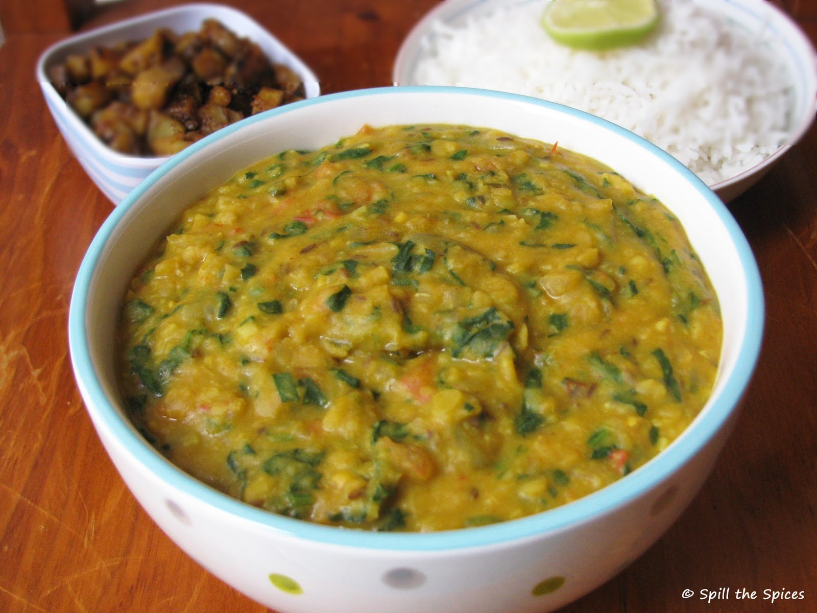 garlic and make a garlicky palak dal for a change