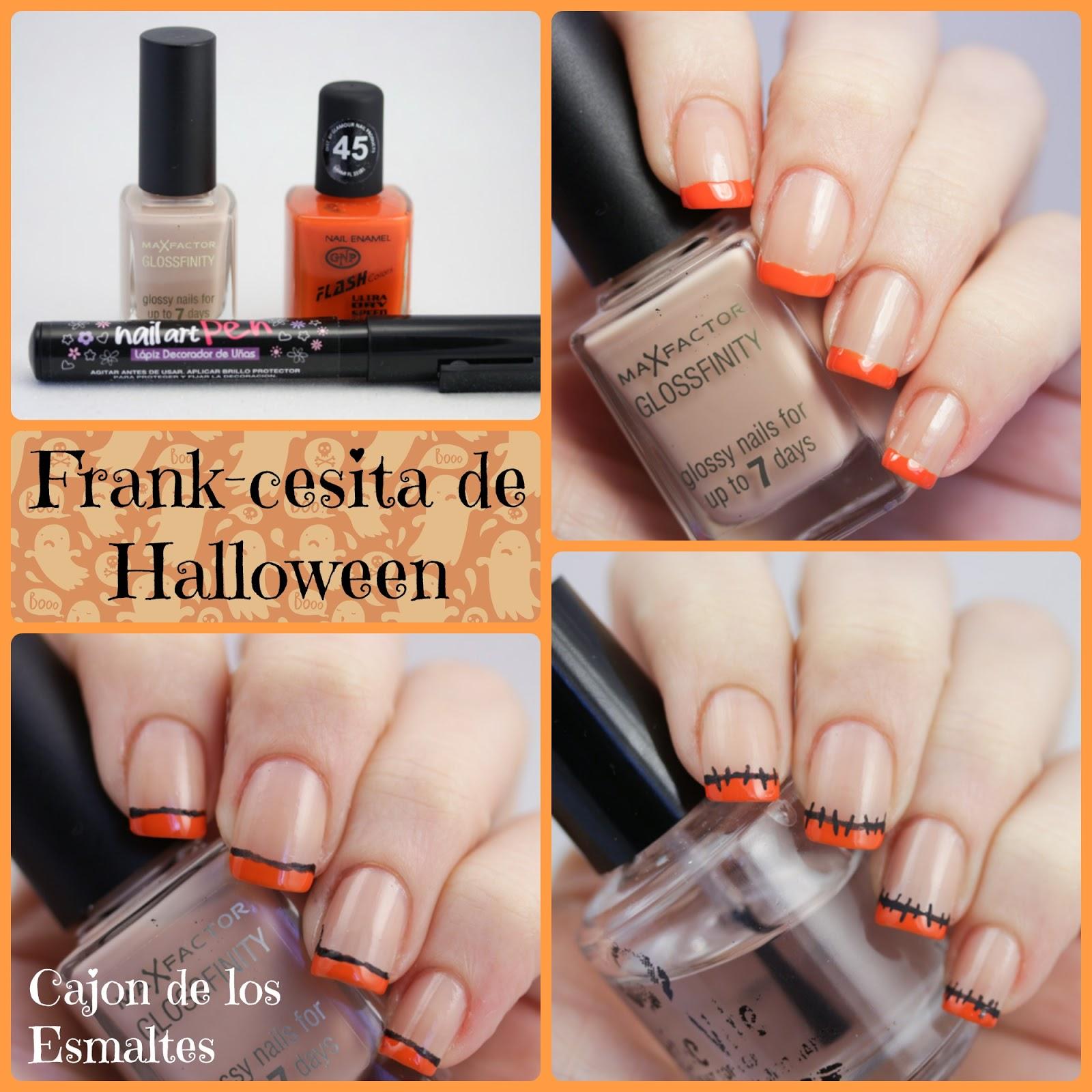 paso a paso tutorial decoracion sencilla uñas halloween