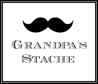 Father's Day, Grandpa, Mustache, Printable