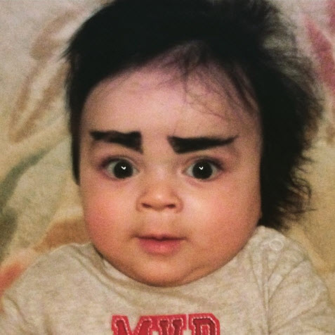 #babyeyebrows