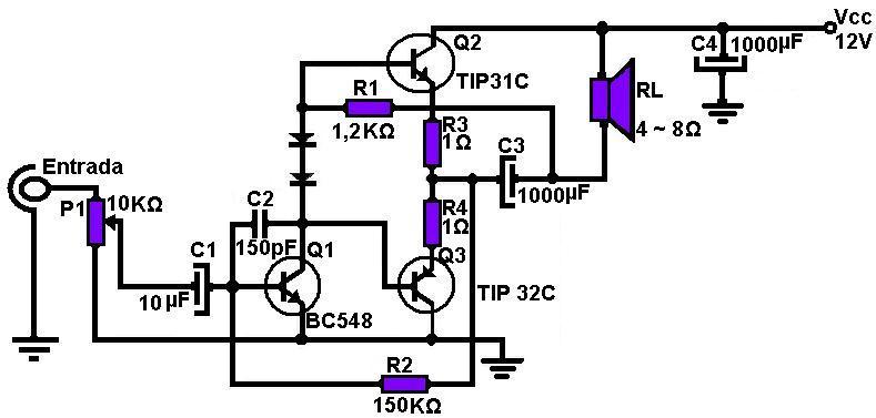 amplificadores de audio  amplificador con tip 31 y tip 32