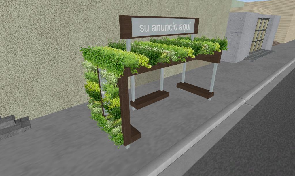 Diseño parabus Minimalist Green con Jardin Vertical y Colgante 1