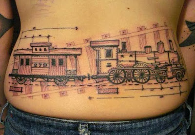 Back Train Tattoo