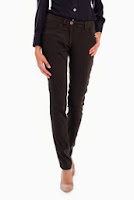 Pantaloni negri tip jeans SR062PS (Ama Fashion)