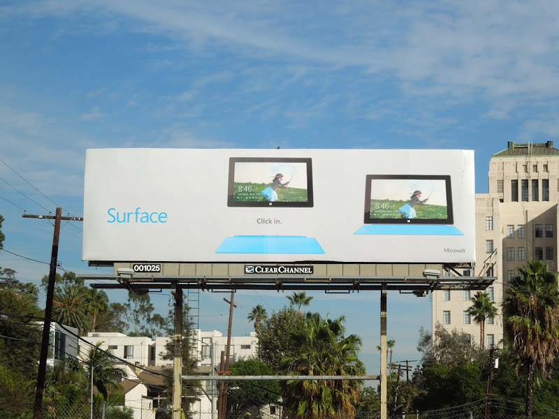 Microsoft Surface billboard