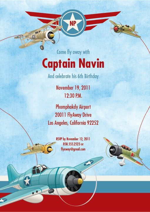 Invitation parlour fly away with the captain vintage planes with the design of the invitations of course but you already knew that if you are interested in ordering this invitation contact us at filmwisefo