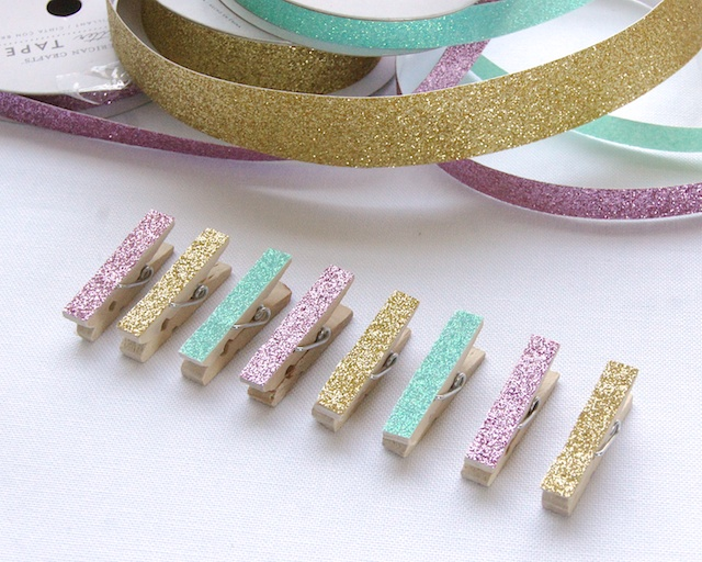 Omiyage blogs 5 minute diy glitter clips - Bricolage bois facile ...