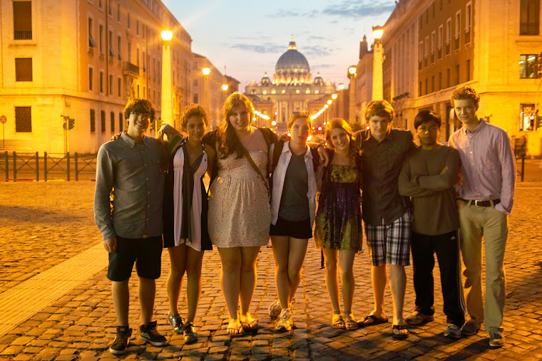 Group at the Vatican by Night