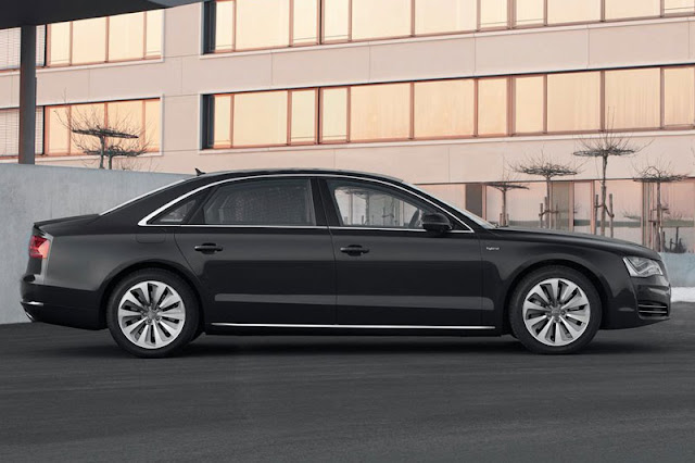 2013 Audi A8 L Sedan Black Wallpaper