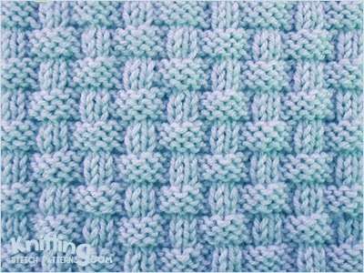 Knit Purl Stitch Patterns : Pie Crust Basketweave Knitting Stitch Patterns