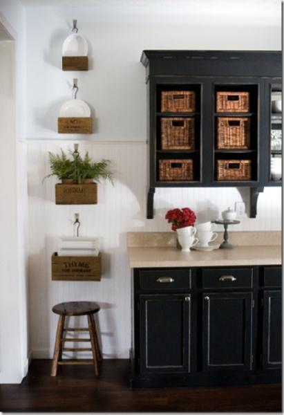 Black Wood Kitchen Cabinets