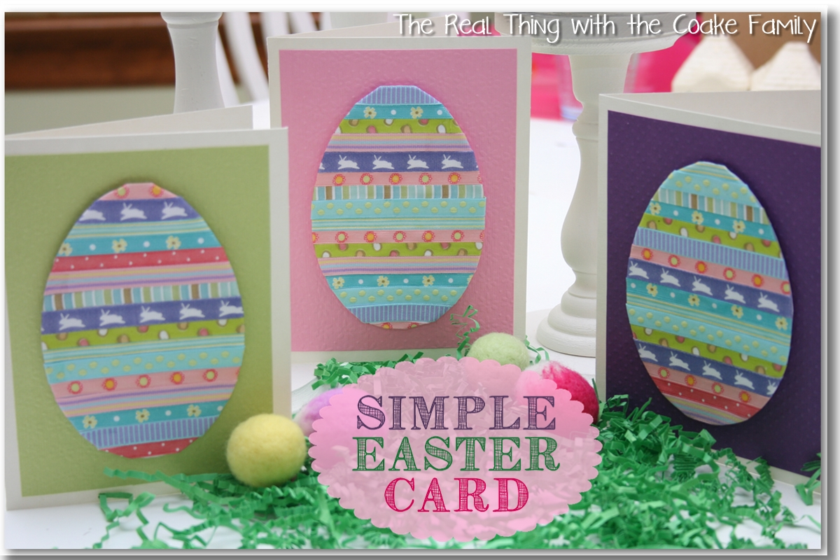 Handmade cards simple easter card the real thing with the coake handmade cards negle Choice Image