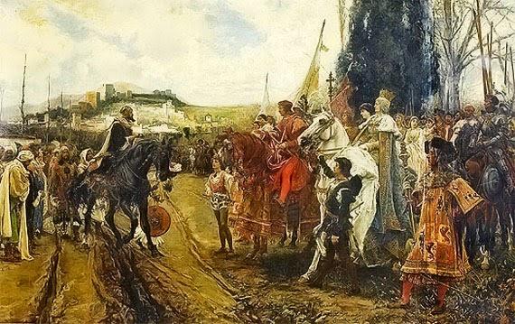Surrender of Granada in 1492 (by F. Padilla)